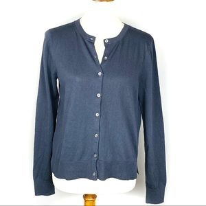 LOFT New With Tags Gray Long Sleeve Cardigan Med